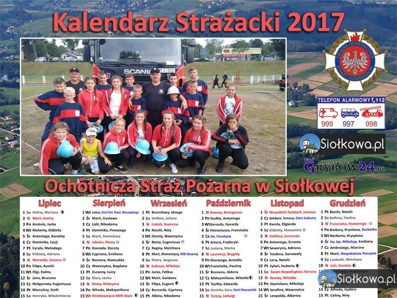 Kalendarz Strażacki na rok 2017